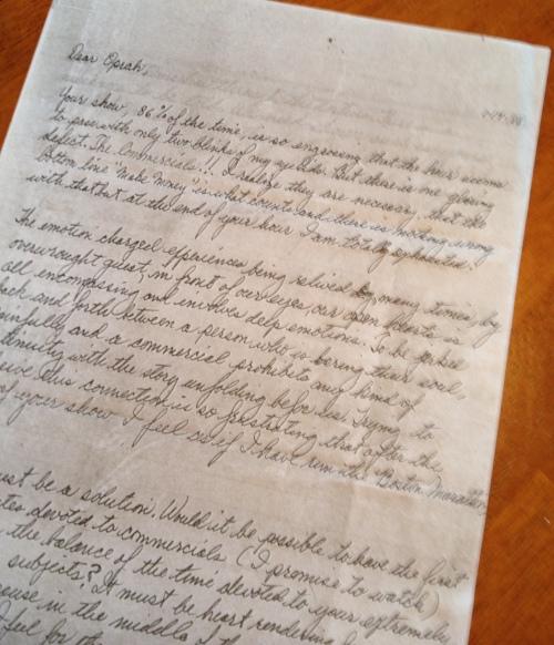 Gram Letter to Oprah 1988